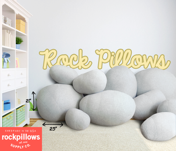 rock pillows in childrens room